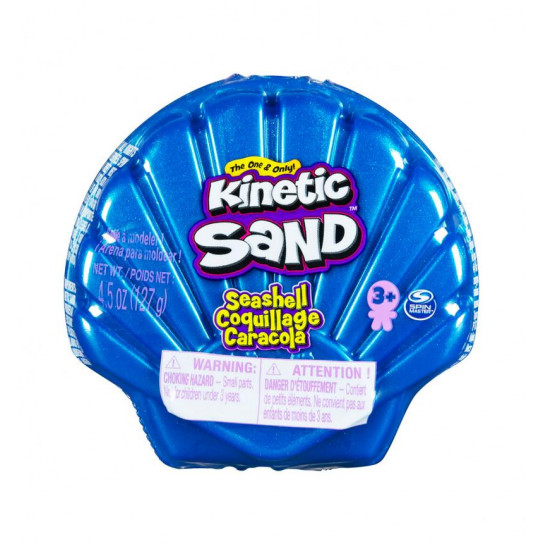 Набор песка для детского творчества - KINETIC SAND РАКУШКА ГОЛУБАЯ