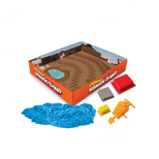 Набор Песка Для Творчества - Kinetic Sand Construction Zone (Голубой)