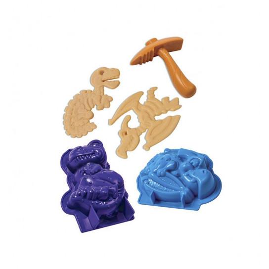 Набор Песка Для Творчества - Kinetic Sand Dino (Голубой , Коричневый)