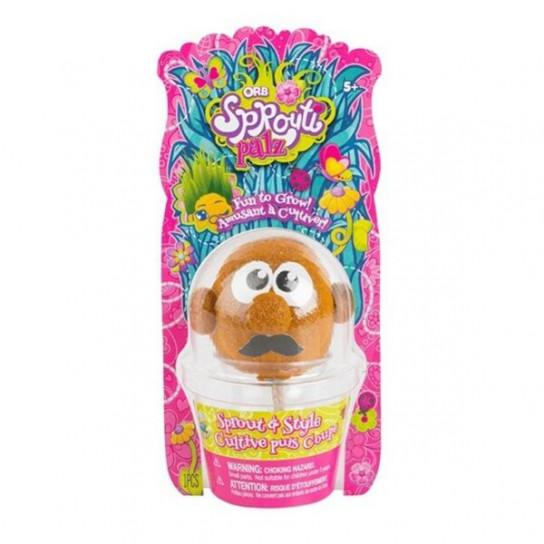 ORB Sprouti Palz: игрушка-травянчик оранжевый