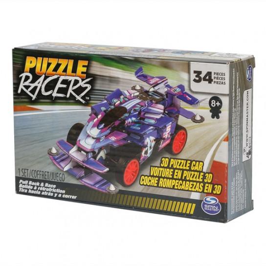 Пазл 3D «Гоночный автомобиль» фиолетовый