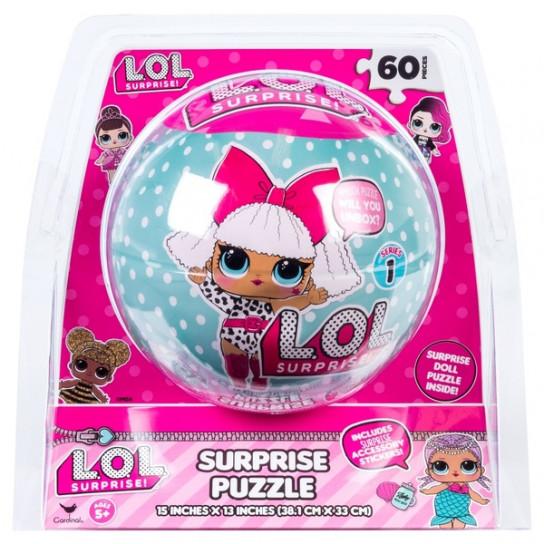 Пазл фигурный Кукла L.O.L.Surprise со стикерами для украшения