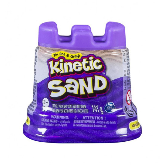 Песок Для Детского Творчества - Kinetic Sand Мини Крепость (Фиолетовый)