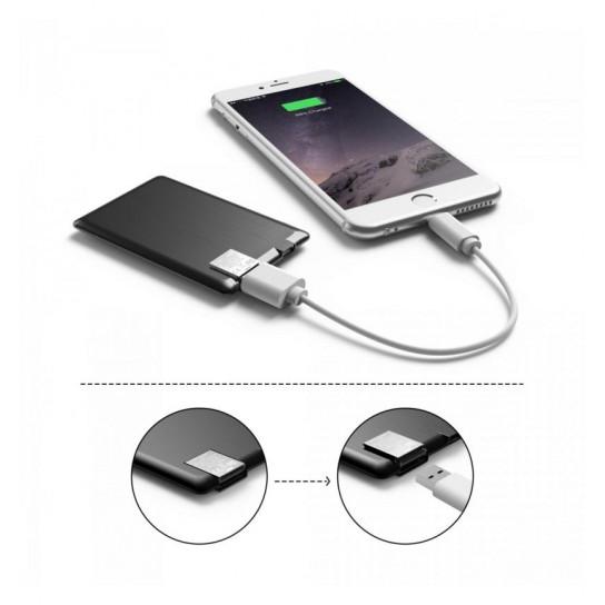 Портативная Батарея Xoopar - Power Card (Чёрная, 1300 Ма*Ч)