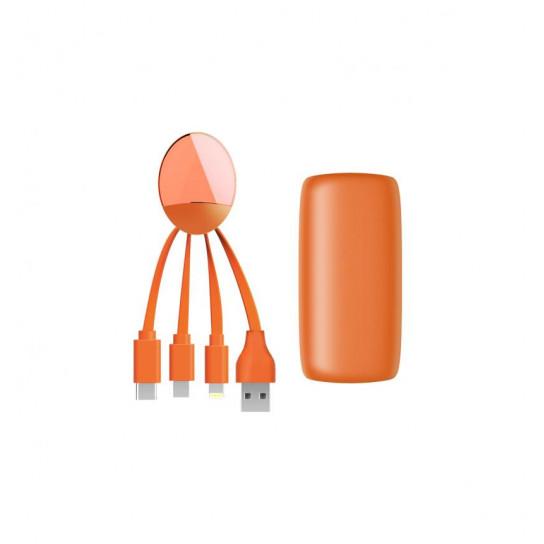 Портативная Батарея Xoopar - Weekender (Оранжевая, 5000 Ма*Ч, С Универсальным Кабелем)