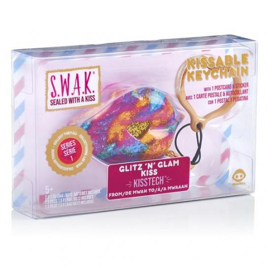 S.W.A.K. Интерактивная игрушка-брелок «Волшебный поцелуй: Гламурный блеск»