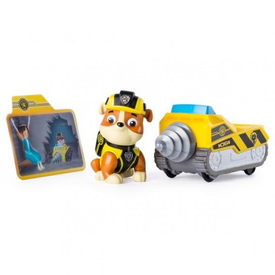 Щенячий патруль тайная миссия: мини спасательный автомобиль с водителем Крепыш