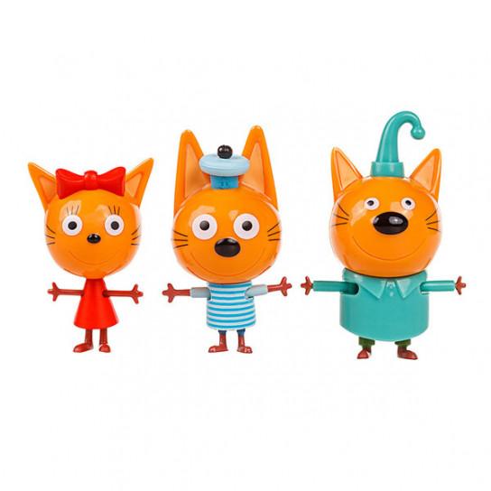 Три кота: игровой набор Семья котят с друзьями