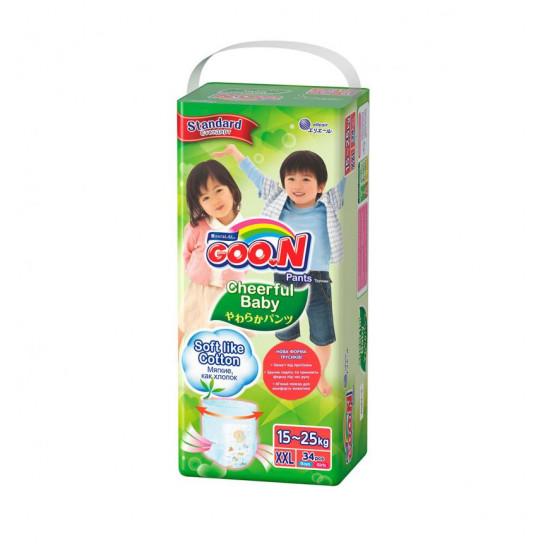 Трусики-подгузники Cheerful Baby для детей (XXL, 15-25 кг, унисекс, 34 шт)