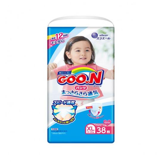 Трусики-подгузники Goo.N для девочек коллекции 2019 (Big XL,12-20 кг)