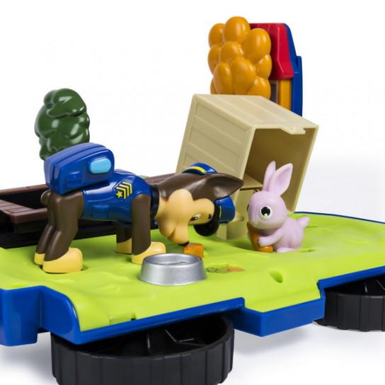 """Цуценячий патруль: ігровий набір-трансформер з Гонщиком """"Рятувальний автомобіль-станція"""""""
