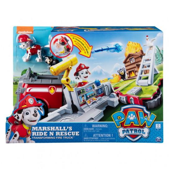 """Цуценячий патруль: ігровий набір-трансформер з Маршалом """"Рятувальний автомобіль-станція"""""""