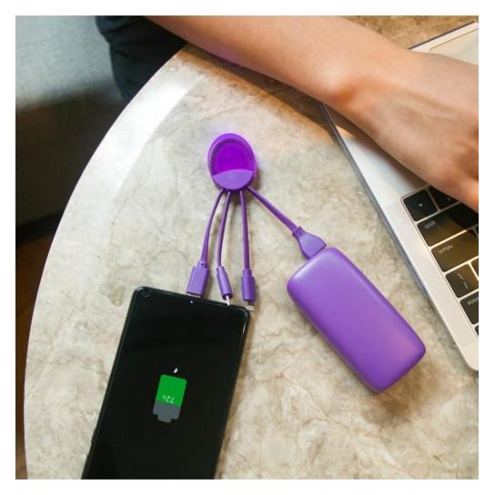Внешняя Портативная Батарея Weekender (5000 Ма, Фиолетовая)