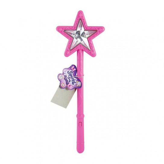 Волшебная палочка со звуковыми и световыми эффектами розового цвета